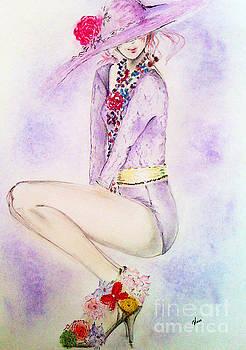Lady in hat by Maria Hakobyan