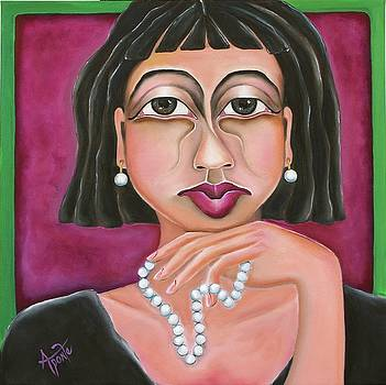 Lady in Pearls by Janice Aponte