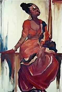 Lady in Red Dress by Michael Ryan