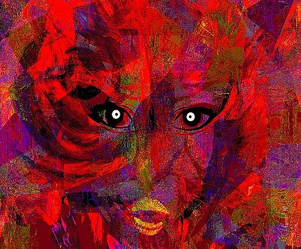 Lady in Red  by Fania Simon