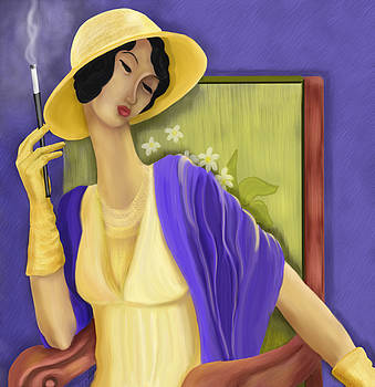 Lady In The Yellow Hat by Sydne Archambault