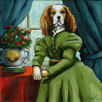 Lady Lenore - The Scandal - dog portrait by Linda Apple