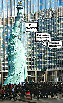 Lady Liberty Joins The Women's March by Aurelio Zucco