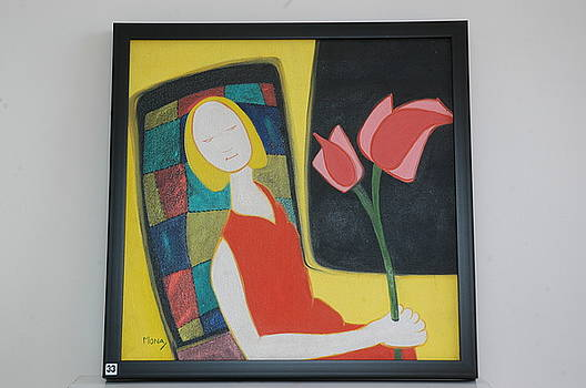 Lady With Flower by Mona Bhavsar