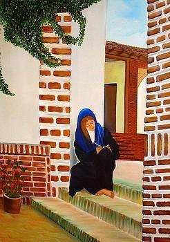 Xafira Mendonsa - Lady writing a love letter