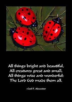 Joyce Geleynse - Ladybugs On A Leaf