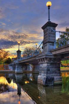 Lagoon Bridge - Boston Public Garden by Joann Vitali