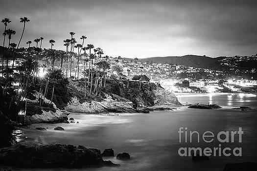 Paul Velgos - Laguna Beach at Night Black and White Picture