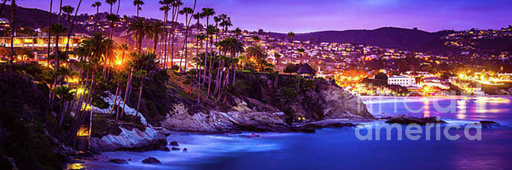 Paul Velgos - Laguna Beach at Night Panorama Picture