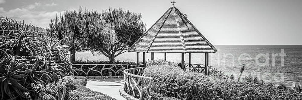 Paul Velgos - Laguna Beach Gazebo Black and White Panorama