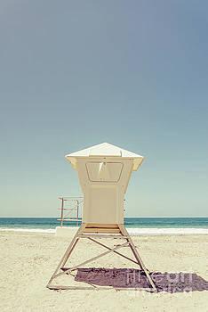 Paul Velgos - Laguna Beach Lifeguard Tower Retro Photo