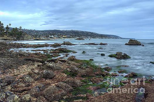 Laguna Beach Shoreline at Low Tide by Eddie Yerkish