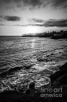 Paul Velgos - Laguna Beach Sunset Black and White Picture