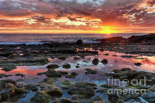 Laguna Beach Tidepools at Sunset by Eddie Yerkish