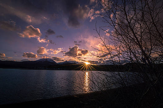 Lake Dillon Evening Sunset by Michael J Bauer