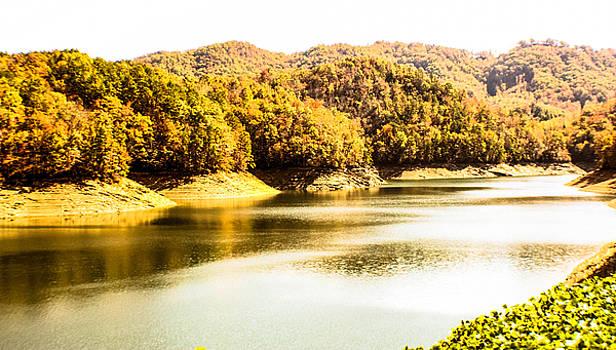 Lake Fantana In The Mountans by Tom Zukauskas