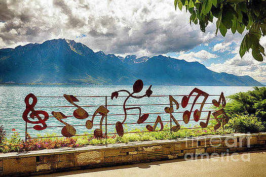 Lake Geneva Shoreline at Montreux by George Oze