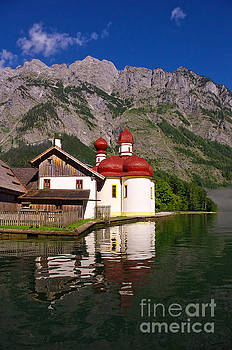 Lake Koenigssee, St. Bartholomae by Angela Doelling AD DESIGN Photo and PhotoArt