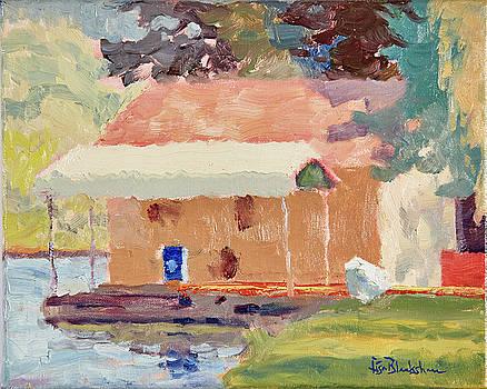 Lake Lure Boathouse Morning Light by Lisa Blackshear