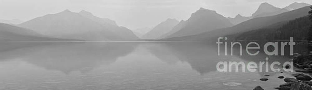Adam Jewell - Lake McDonald Black And White Panorama