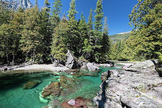 Lake McDonald Falls in Glacier National Park by Brandon Alms