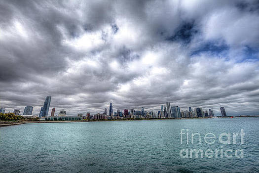 Lake Michigan Chicago Skyline by Wayne Moran