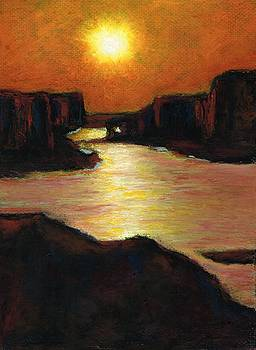 Lake Powell At Sunset by Frances Marino