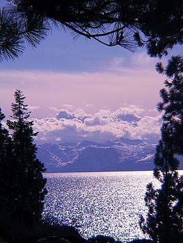 Lake Tahoe Purple Skies by Edward Hass