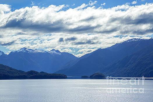 Lake Wakatipu in South island, New Zealand by Julia Hiebaum