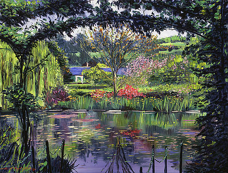 Lakeside Giverny by David Lloyd Glover
