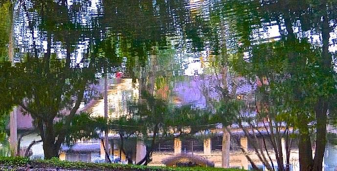 Lakeside Inn Reflection by Wendell Lowe
