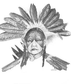 Lakota Headdress by Wayne Pruse