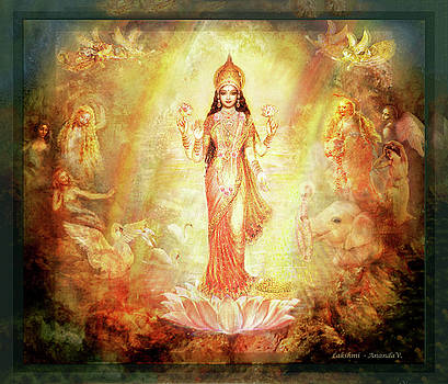 Lakshmi with Angels and Muses 1 by Ananda Vdovic