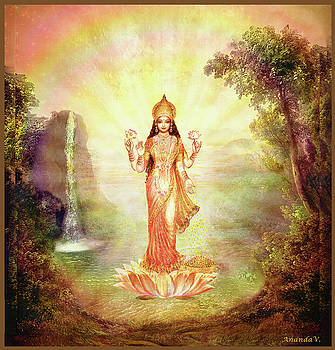 Lakshmi with the Waterfall by Ananda Vdovic