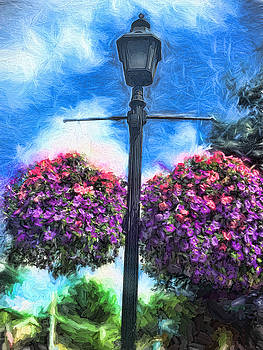 Cindy Boyd - Lamp Post With flowers