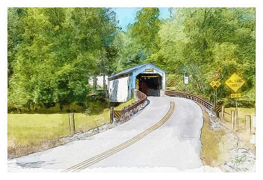 Lancaster Covered Bridge by Tom Schmidt