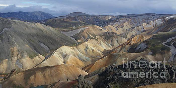 Landmannalaugar rhyolite mountains Iceland by Rudi Prott