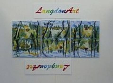 Langdonart trio3times3times3is27 by Artiste LangdonArt