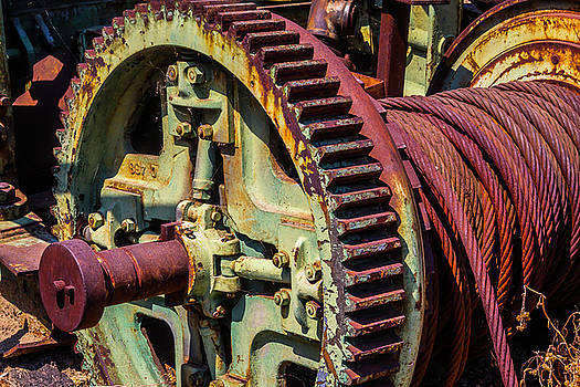 Large Gear And Cable by Garry Gay