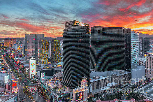 Las Vegas City Center at Sunset by Aloha Art
