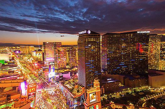 Las Vegas - Night View by Hisao Mogi