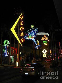 John Malone - Las Vegas Street Scene at Night