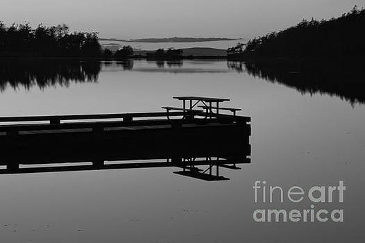 Last Light At Cranberry Lake Black And Wite by Adam Jewell