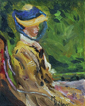 Last Portrait of his Wife Suzanne., After Manet by Michael Helfen