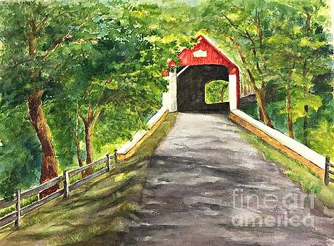 Late Afternoon At Knechts Covered Bridge   by Lucia Grilletto
