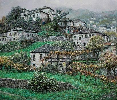 Late autumn in Girokastra by Lazar Taci