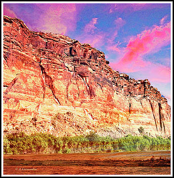 Late Day Sky, Walls of Labyrinth Canyon, Moab, Utah by A Gurmankin