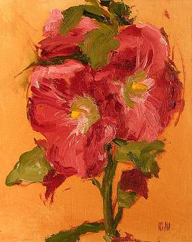 Late Hollyhocks by Mary McInnis