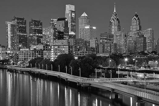 Late Night Philly Grayscale by Frozen in Time Fine Art Photography