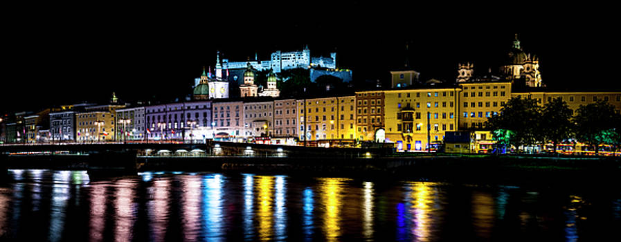 Late Night Stroll in Salzburg by David Morefield